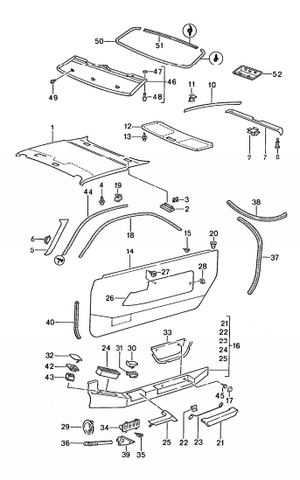 (New) 928 Door Piping 1987-95