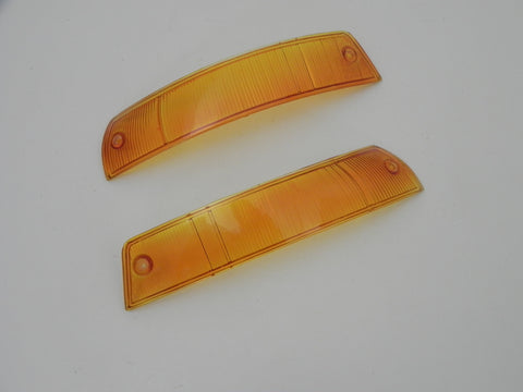 (New) 911/912 Concours-like USA Turn Signal Lens Pair - 1965-68