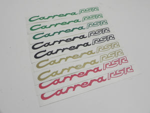 "(New) 911 ""Carrera RSR"" Rear Duck-Tail Engine Lid Decal"