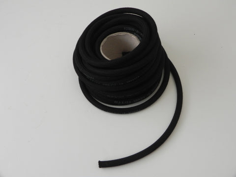 (New) 911/912 7mm Black Cloth Braided Brake Hose at Master Cylinder - 1965-73
