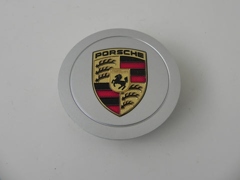 (New) 964 30 Year Anniversary Silver Center Cap w/ Full Colored Porsche Crest - 1989-94
