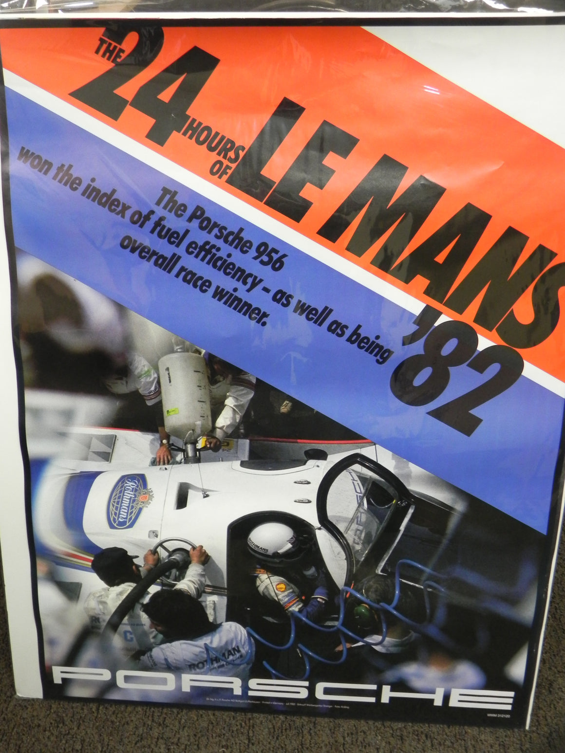 (Original) 24 Hours of Le Mans 956 Porsche Poster