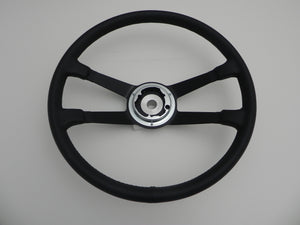 (New) 356/911/912 Leather 390mm VDM Steering Wheel - 1959-73