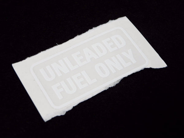 (New) 911 'Unleaded Fuel Only' Decal in White Lettering - 1978-89