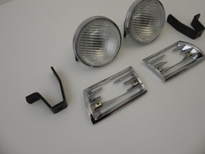 (New) 911/912 Hella 118 Additional Amber or Clear Fog Light and Optional Grille Kit - 1965-73