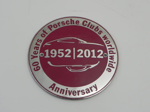 (New) 60 Years of Porsche Clubs Worldwide Hood Badge