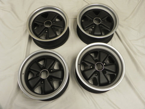 (Refinished) Complete Set of 7jx15 & 8jx15 Fuchs Wheels - 1974-89