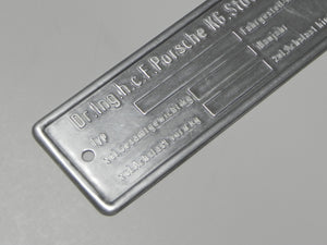 (New) Blank Chassis ID Plate