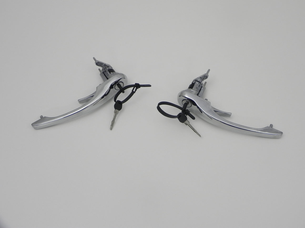 (New) 911 Set of Chrome Door Handles, Matching Lock and Keys - 1970-86
