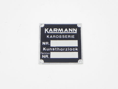 (New) 356 Karmann Chassis and Paint Badge - 1959-65