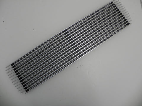 (Used) 911 or 912 Silver 3 Bar Engine Lid Grille - 1969