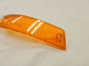 (New) 911/912 Euro Amber/Clear Front Left Turn Signal Lens - 1965-68