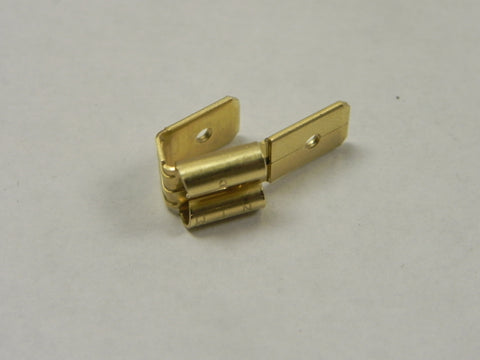(New) Brass 2-1 Spade Connector