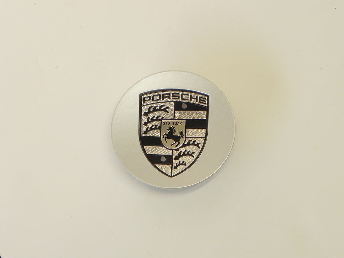 (New) Boxster/Cayenne/Cayman/Panamera Silver Center Cap w/ Crest