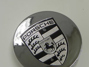 (New) Boxster/Cayenne/Cayman/Panamera Chrome Center Cap w/ Crest