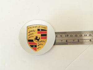 (New) Boxster/Cayenne/Cayman/Panamera Silver Center Cap w/ Colored Crest