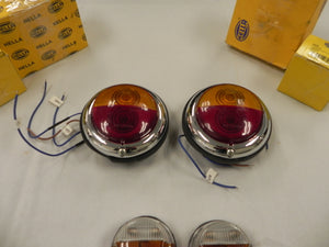 (NOS) 904 Complete Set of Front/Rear Turn Signal & Taillights w/ Rear Side Markers
