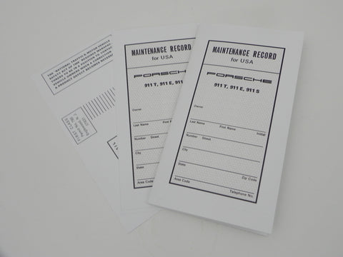 (New) 911 T/E/S Maintenance Manual Insert Papers - 1973