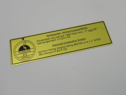 (New) 912 1600cc Timing Decal