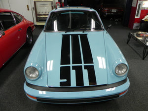 (New) '911' Single-Colored Front Hood Decal - 1974-89