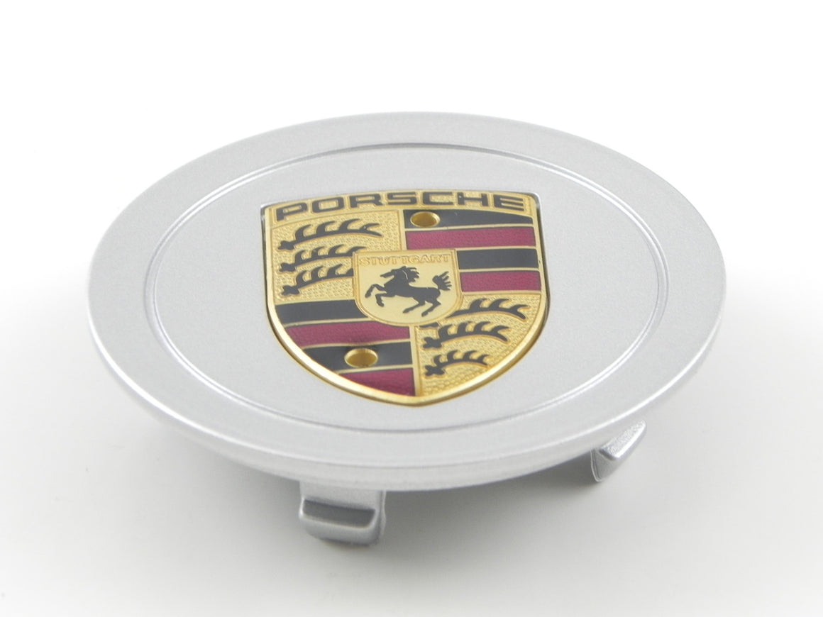 (New) 5-Prong Center Caps w/ Full Colored Porsche Crest - 1997-2008