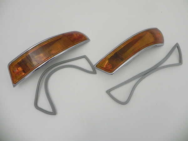 (Original) 911 or 912 USA Turn Signal Lens Assembly Pair - 1965-68