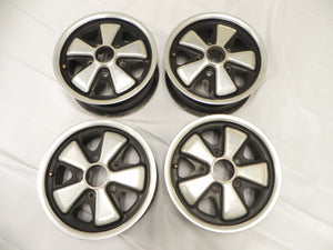 (Used) 911/912/914 Complete Set of Original 5.5j x 14 Fuchs Wheels Date Matching - 1965-77