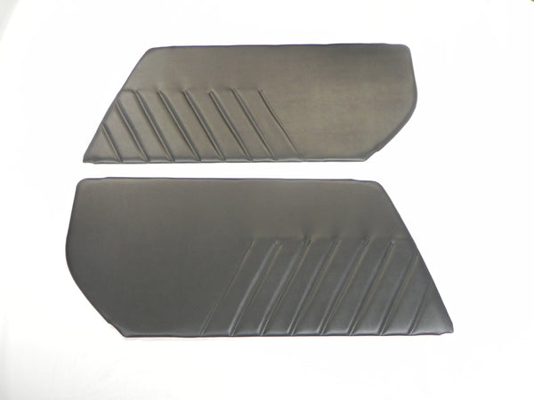 (New) 911/930 Black Pleated Vinyl Door Panel Set - 1974-94