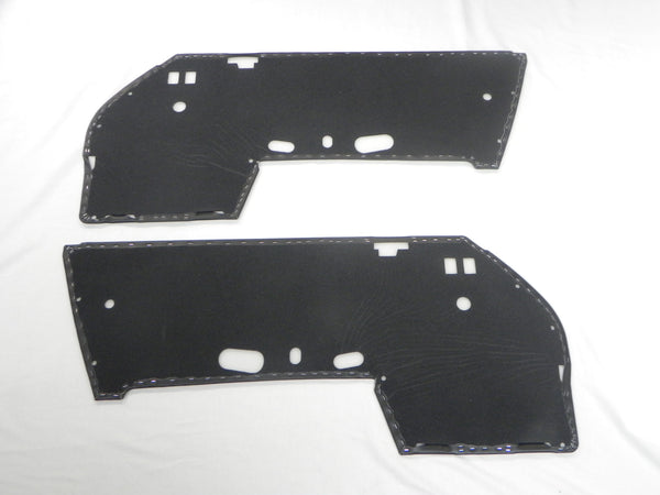 (New) 911/912 Black Vinyl Door Panels w/ Pocket Cut-outs - 1969-73