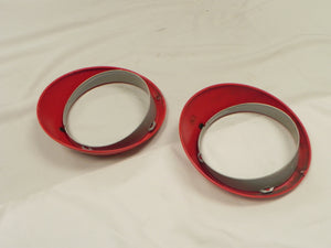 (Used) 911/912/930 Pair of Red Sealed Beam Headlight Rims - 1968-86