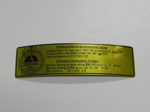 (NOS) 914 Emissions Decal 2.0