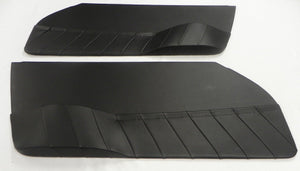 (New ) 911/912 Black Leatherette Door Panel Set - 1965-67