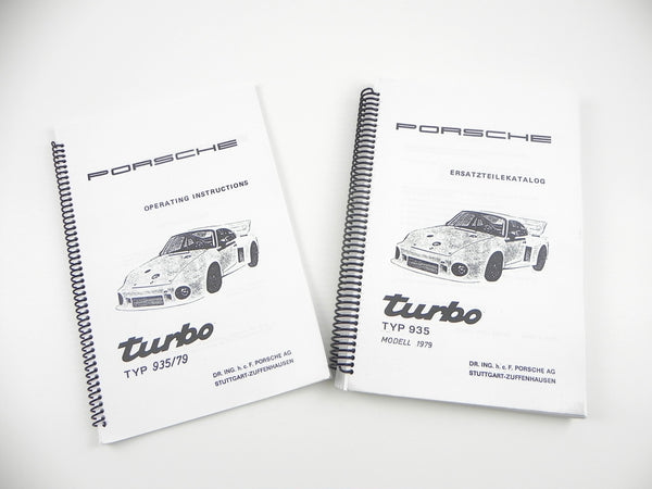 (New) Porsche 935/79 Operating Instructions and Spare Parts Catalog Set