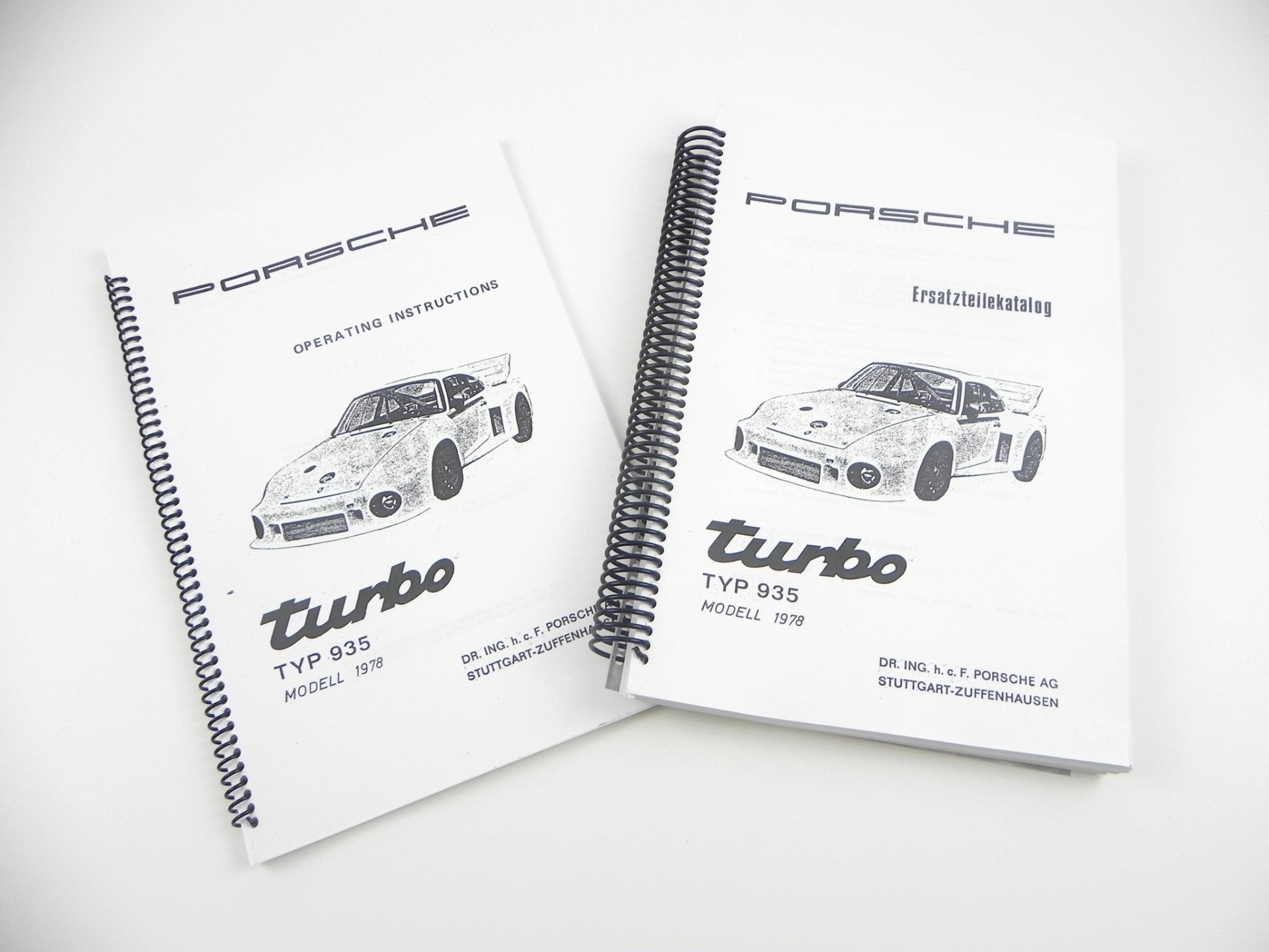 (New) Porsche 935/78 Operating Instructions and Spare Parts Catalog Set