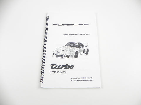 (New) Porsche 935/79 Operating Instructions