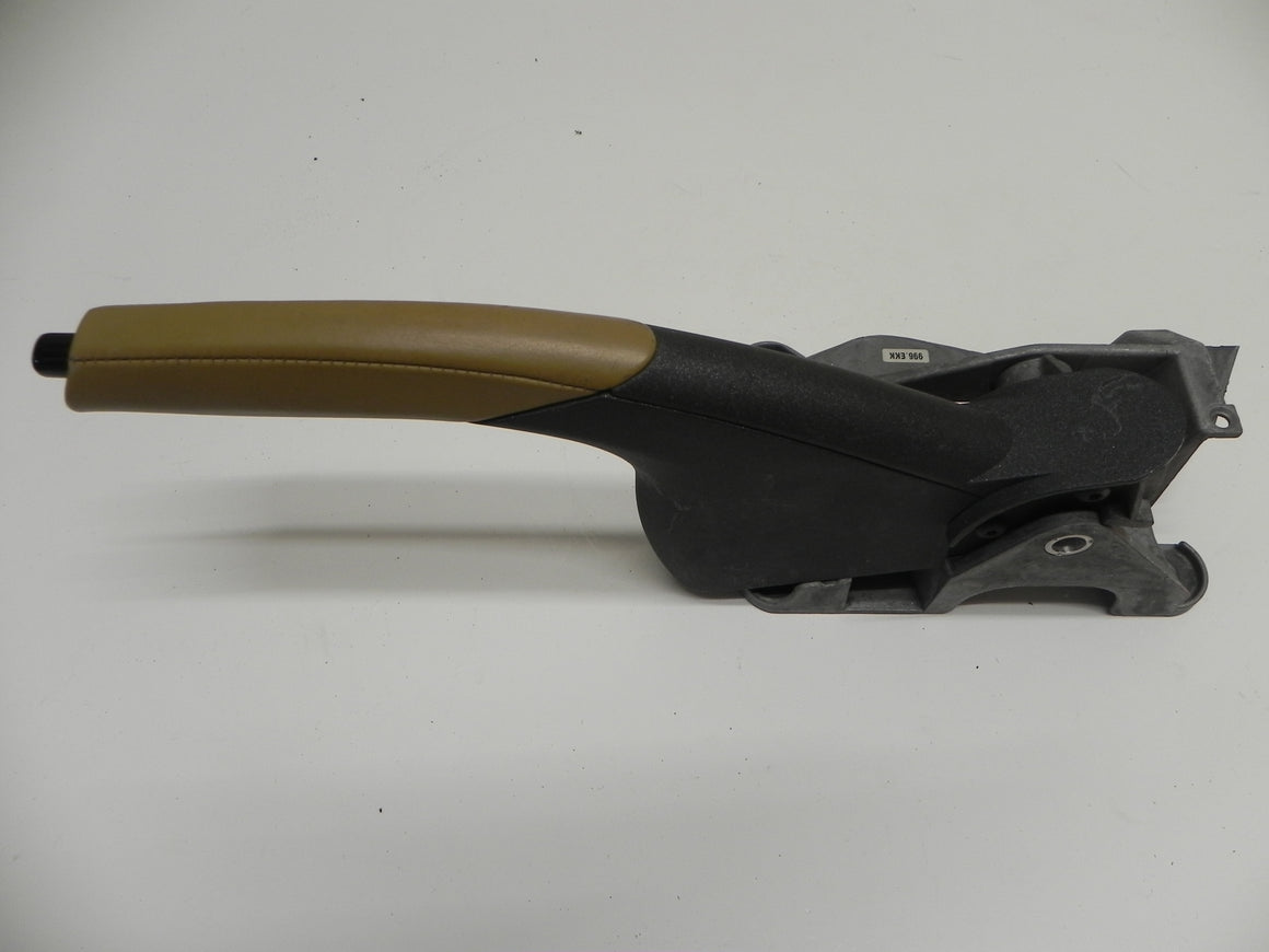 (Used) Boxster Tan-Tipped Leather Parking Brake Handle Assembly - 1997-2004