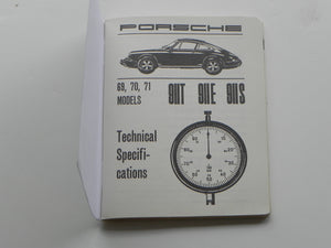 (New) Factory Technical Manual 911 T, E, S