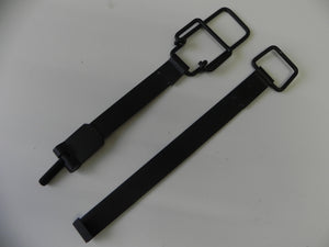 (New) 911/912 Set of Black Upper and Lower Battery Hold Down Straps - 1969-73