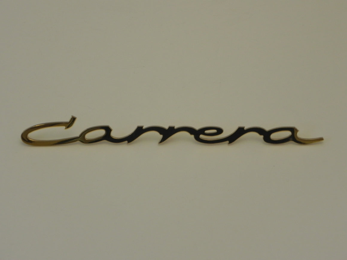 "(New) 356/904 Large Gold Script Emblem: ""Carrera"" - 1950-66"
