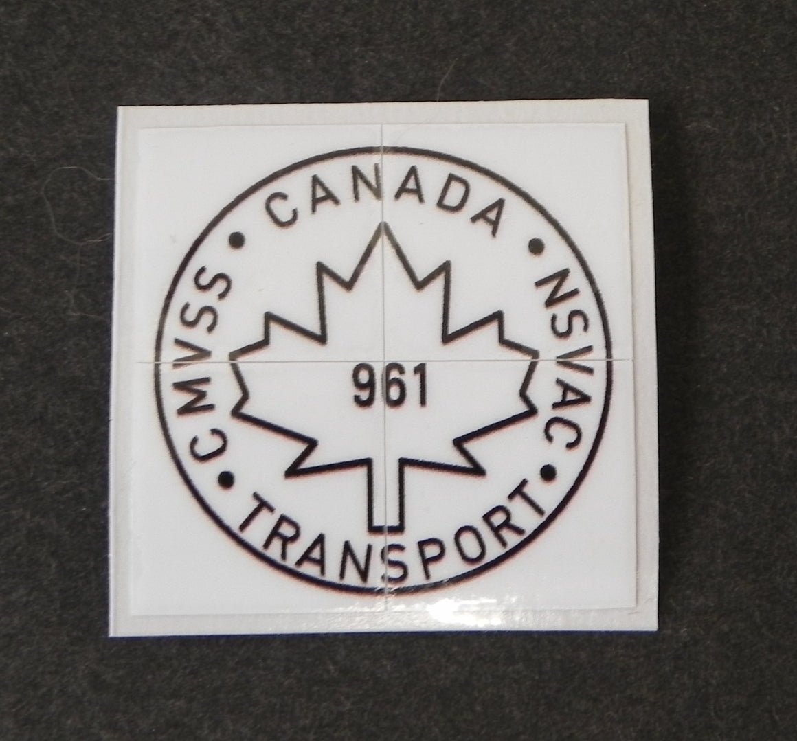 (New) 911 Canada Transport Decal - 1976-2004