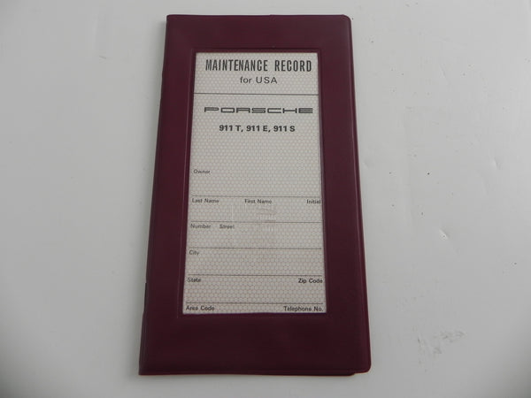 (New) Maintenance Service Record Book Cover