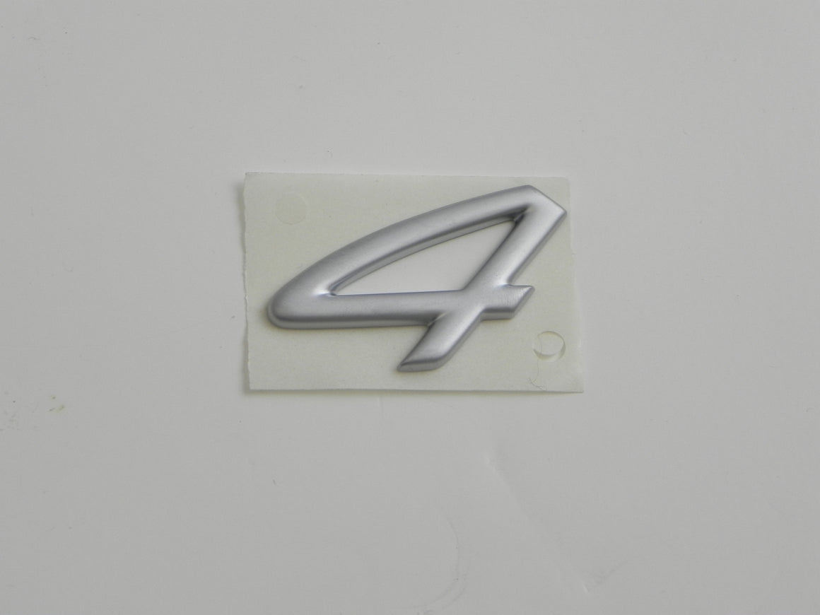 "(New) 911 Carrera Silver ""4"" Emblem - 1999-04"