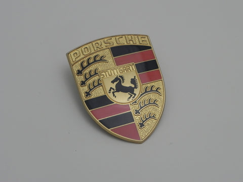 (New) 911/912 Porsche Hood Crest with Orange Bars - 1965-74