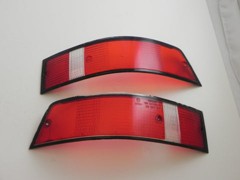 (Used) 911 Pair of Bosch USA Black Trim Tail Light Lenses - 1969-89