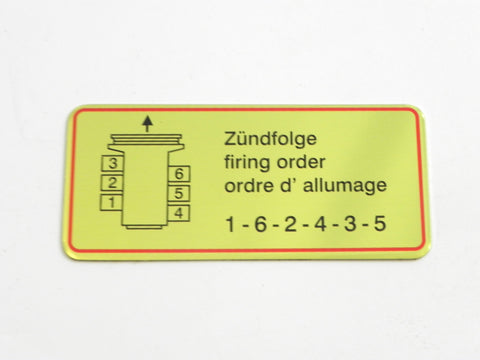 (New) 911 Red Bordered Firing Order - 1965-69