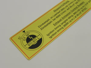 (New) 911-911L Timing Decal with Red Border - 1967-68