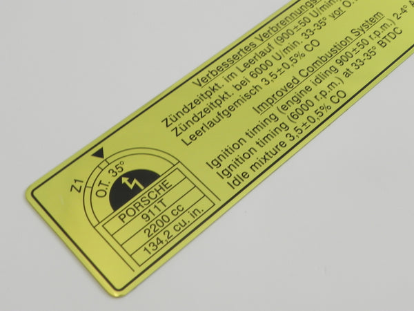 (New) 911 T Timing Decal - 1970-71