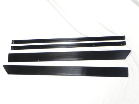 (New) 911/912/930 Black Door Step Threshold Plate and Carpet Trim Set - 1974-89