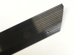 (New) 911/912/930 Left Black Aluminum Door Step Threshold Plate - 1974-89
