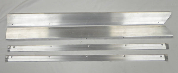 (New) 911/912 Aluminum Door Step Threshold Plate and Carpet Trim Set - 1965-73